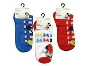 Mickey and Minnie 3-Pack Kids Anklets Socks Size 9-11 Assorted Styles