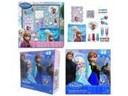 Disney Frozen Anna and Elsa Cosmetic Box set with Frozen Floor Puzzle
