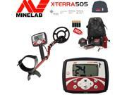 Minelab X-Terra 505 Special Bundle with Free Cap, Hat, Carrybag and Batteries