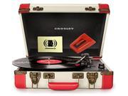 Crosley CR6019A-RE Executive Red USB Portable Turntable Music Lover Bundle with  Diamond Stylus Replacement Needle and Polishing Cloth