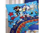 Sonic Hedgehog Speed Video Game Twin Bed Sheet Set