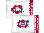 NHL Montreal Canadiens Hockey Set of 2 Logo Pillow Cases