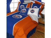 MLB New York NY Mets Baseball Team 5pc Queen Bedding Set
