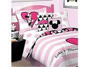 Disney Minnie Mouse Love Twin-Single Bed Sheet Set