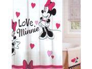 Disney Minnie Mouse Love Hearts Bathroom Shower Curtain
