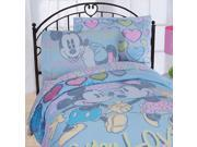 Mickey Minnie Mouse Full Bedding Set 7pc Disney Vintage Bed