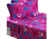 Disney Minnie Mouse Full Sheet Set Hearts Bow-Tique Bedding