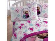 Disney Frozen Full Bed Sheet Set Anna Elsa Snowflakes Bed