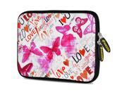 Amzer 10.5-Inch Designer Neoprene Sleeve Case Pouch for Tablet, eBook, Netbook - Butterfly Zone