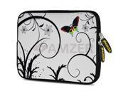 Amzer 10.5-Inch Designer Neoprene Sleeve Case Pouch for Tablet, eBook, Netbook - Snow Butterfly