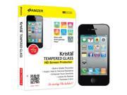 AMZER Tempered Glass HD Screen Protector Clear Cell Phone - Cases & Covers for Apple iPhone 4, Apple iPhone 4S