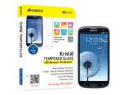 AMZER Tempered Glass HD Screen Protector Clear Cell Phone - Cases & Covers                                  Samsung Galaxy S III