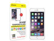Amzer Kristal Tempered Glass HD Edge2Edge Black Screen Protector for iPhone 6 (Fit All Carriers)