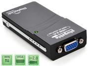 Plugable USB-VGA-165 USB to VGA Display Adapter  (Supports Monitors up to 1920x1080 on Windows, Mac OS X Support Limited to 10.7, 10.8) DisplayLink DL-165 Chipset