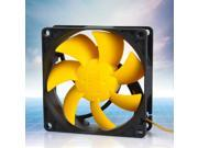 80mm 3pin Silent PC Case Cooler Cooling Fan + Shock Absorption Screws