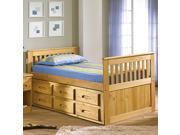 Discovery World Furniture Explorer Ginger Rake Bed Twin With 12 Drawer Storage (6 on EACH side)