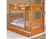 Discovery World Furniture Honey Bunk Bed Twin/Twin Mission with Twin Trundle
