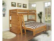 Discovery World Furniture Honey Loft Bunk Bed Twin Over Full