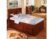 Discovery World Furniture Merlot Bookcase Captains Bed Twin (6 drawer and trundle option)