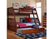 Discovery World Furniture Merlot Mission Bunk Bed Twin/Full with Twin Trundle