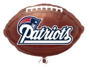 "Anagram New England Patriots 21"" Football Shape Mylar Foil Balloons - 10 Pack"