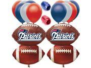 New England Patriots Playoffs Football Balloon Decorating Party Goer Pack 17pc
