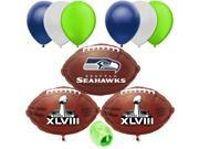 Seatle Seahawks NFL Super Bowl Football Balloon Decorating Party Pack