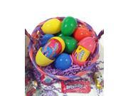 25 Pre-Filled Easter Eggs for Egg Hunt w Toys Bracelets, Stickers, Rabbits & more