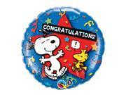 "Qualatex Snoopy & Woodstock Congratulations  18"" Jr Shape Foil Balloon"