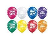 "Qualatex Woo Hoo You Did It Grad 11"" Latex Balloons"