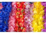 100 Piece Assorted Hawaiian Flower Fabric Leis Mega Pack