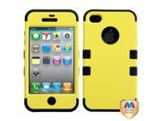Rubberized Yellow / Black TUFF Hybrid Protector Case Cover for Apple iPhone 4 / 4S
