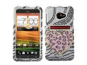 Playful Leopard Diamante Rhinestones Bling Protector Case Cover for HTC EVO 4G LTE