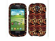 Samsung Stratosphere 2 I415 Hard Cover Case - Yellow Leopard Zebra Safari