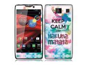Motorola Droid Razr Maxx HD Vinyl Decal Sticker - Keep Calm Hakuna Matata