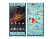 Octopus Vacation Sony Xperia Z Vinyl Skin Sticker