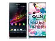 Sony Xperia Z C6603 C6606 Back Cover Case - Keep Calm Hakuna Matata