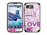 Motorola Atrix 2 MB865 Vinyl Decal Sticker - Pink/ Purple Love