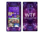 HTC Windows Phone 8X Zenith 6990 Vinyl Decal Sticker - Wtf Where'S The Food