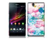 Sony Xperia Z C6603 C6606 Back Cover Case - Keep Calm Be Forever Young