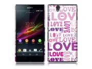 Sony Xperia Z C6603 C6606 Back Cover Case - Pink/ Purple Love