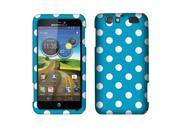 Motorola Atrix 3 Dinara HD MB886 Hard Case Cover - Dots White/Blue