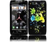 Motorola Droid Razr Maxx XT913 XT916 XT912M Hard Case Cover - Magic Flowers Texture