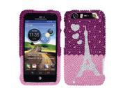 Motorola Atrix 3 Dinara HD MB886 Hard Case Cover - From Paris With Love Full Rhinestones