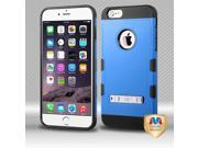 Apple iPhone 6 plus 5.5 inch Hard Cover and Silicone Protective Case - Hybrid Natural Dark Blue/ Black TUFF Trooper With Metal Stand