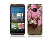 HTC One M9 Silicone Case - TPU Pink Deer Hunter