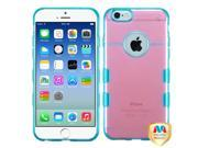 Apple iPhone 6 4.7 inch Silicone Case - Transparent Pink/ Transparent Baby Blue Gummy
