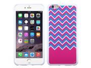 Chevron/Waves Pink Durable Hard Flexible Protector Cover Case for iPhone 6 Plus