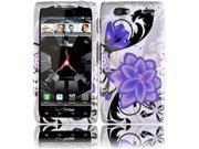Motorola Droid Razr Maxx XT913 XT916 XT912M Hard Case Cover - Violet Lily