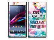 Sony Xperia Z Ultra Togari C6802 C6806 C6833 Vinyl Decal Sticker - Keep Calm Hakuna Matata